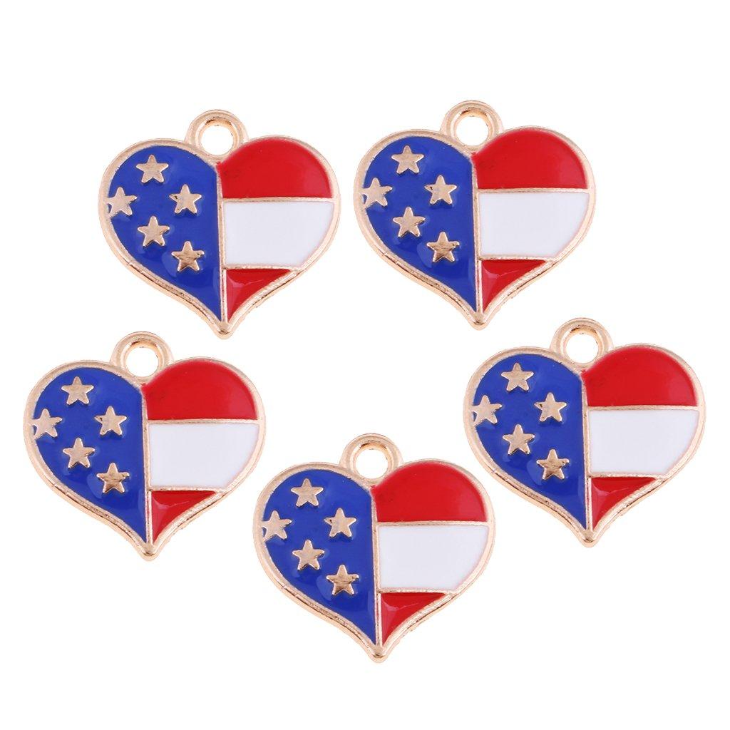 Un Par De Colgantes Corazón Bandera Union Jack temática Clip en pendientes Nuevo.