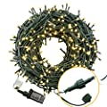 Bestalent Outdoor String Lights 300 LED 104ft for BBQ Party Christmas Wedding and Indoor Bedroom Curtains Decoration