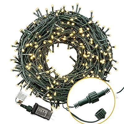 Bestalent Christmas String Lights 300 LED 105ft, Warm White Light : Garden & Outdoor