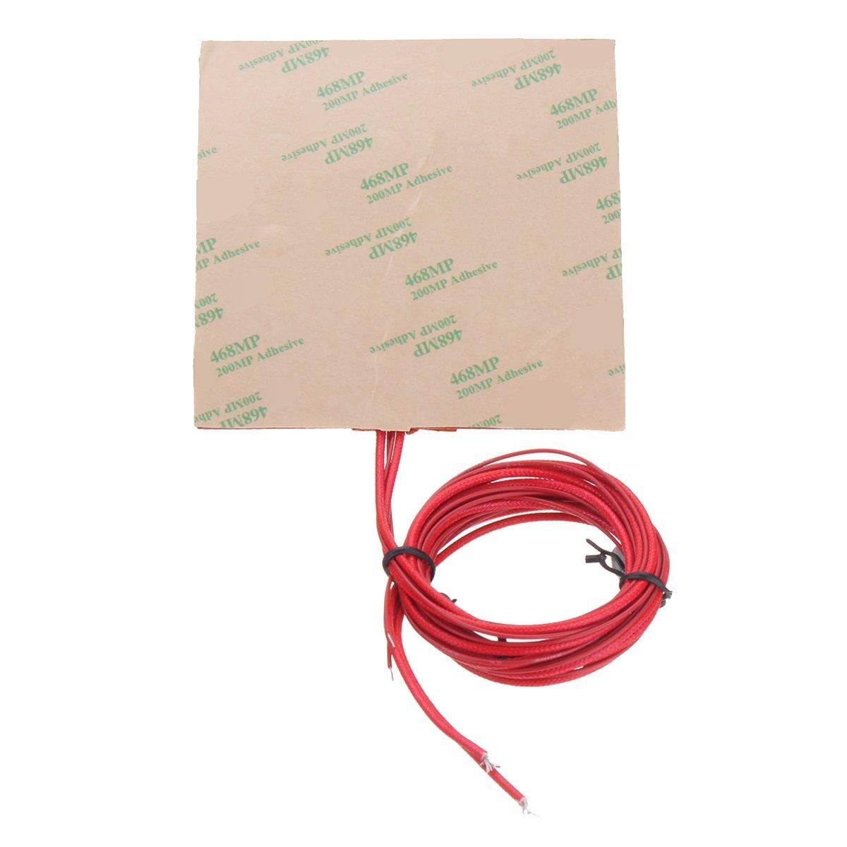 ILS 100mm 12V 50W Silicone Riscaldatore a letto riscaldatore con termistore per stampante 3D 100