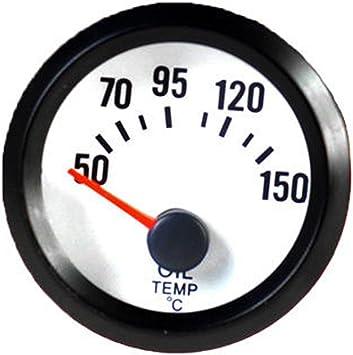 ESUPPORT Car 2 52mm Oil Press Gauge Pointer Blue LED
