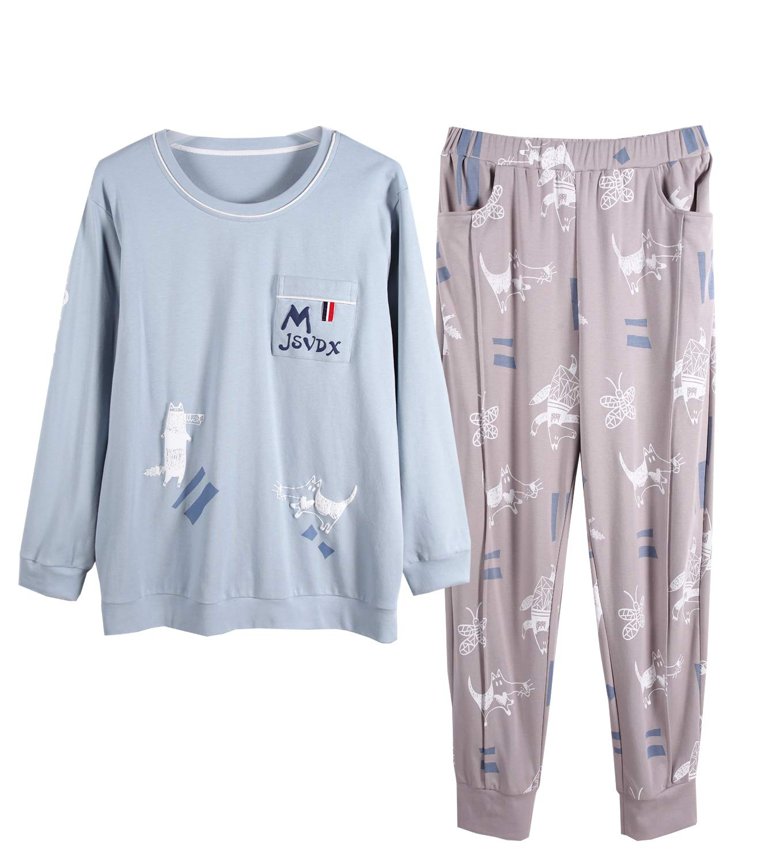 Big Boys Pajamas, Casual Long Sleeve Spring Autumn Sleepwear Set 10-18 Years