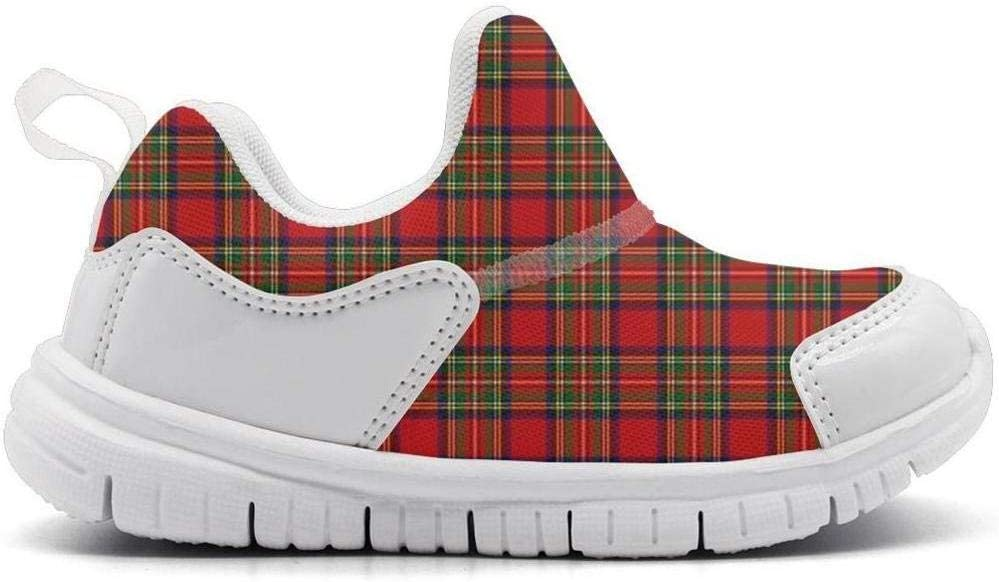 ONEYUAN Children Plaid Printing Delicate red Kid Casual Lightweight Sport Shoes Sneakers Running Shoes