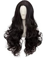 Netgo Muticolor Anime Cosplay Wigs for Women Long Curly Hair Wigs with Obligue Band Lolita Style Heat Resistant Full Wig