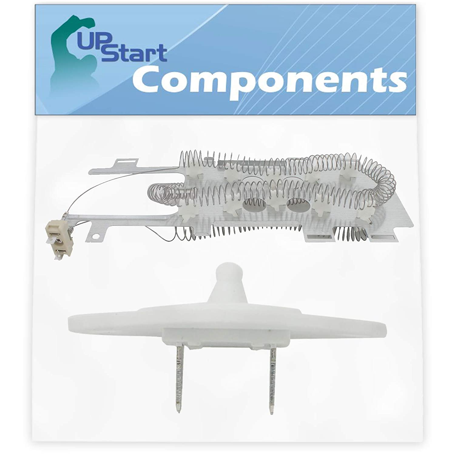8544771 Dryer Heating Element & 8577274 Thermistor Kit Replacement for Whirlpool WED9550WW2 Dryer - Compatible with WP8544771 & WP8577274 Heater Element & Thermistor Kit - UpStart Components Brand