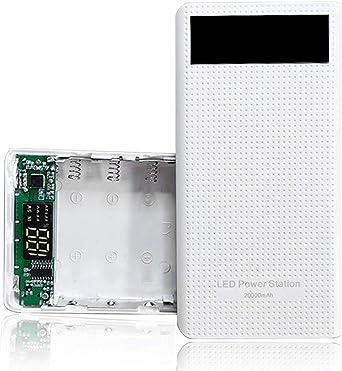 JENOR - Cargador de batería tipo C dual USB QC3.0 7X 18650 para ...