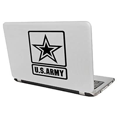 "Yoonek Graphics US Army Decal Sticker for Car Window, Laptop and More # 959 (4"" x 3"", Black): Automotive"