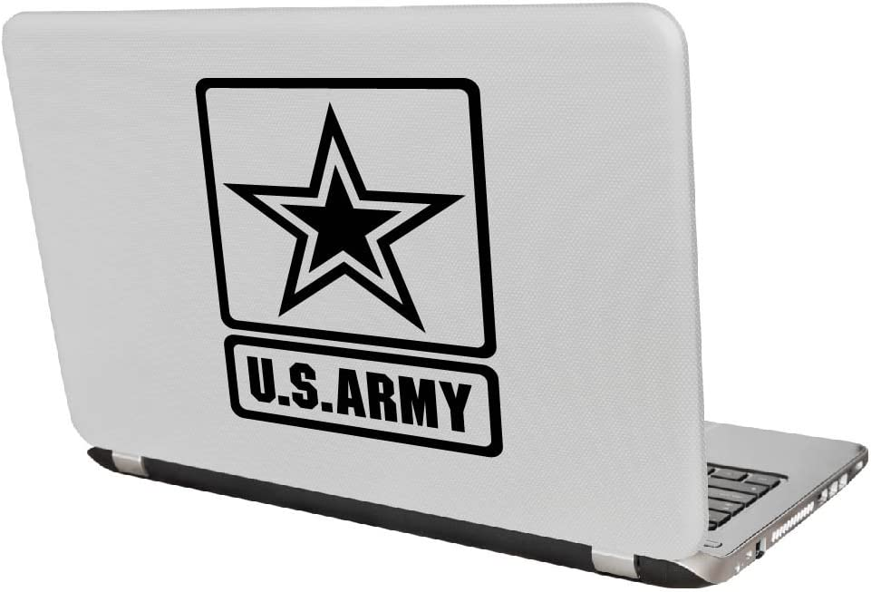 Laptop and More # 959 4 x 3, White Yoonek Graphics US Army Decal Sticker for Car Window