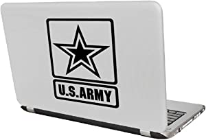 """Yoonek Graphics US Army Decal Sticker for Car Window, Laptop and More # 959 (6"""" x 4.4"""", Black)"""