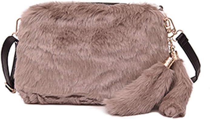2019 Satchel Bags for Women Fashion Leopard Small Bag Messenger Bag Plush Casual Shoulder Bag