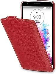 StilGut® UltraSlim Case, custodia in pelle per LG G3 Stylus, rosso