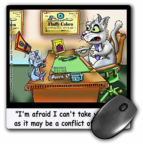 Londons Times Funny Cat Cartoons - Fluffy Cohen Attorney At Claw - MousePad (mp_2883_1)
