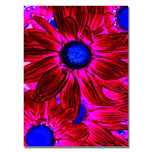 UPC 886511164949, Trademark Fine Art Pop Daisies XI by Amy Vangsgard Canvas Wall Art, 35x47-Inch