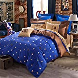 CASA Cotton Conch Duvet Cover & Flat sheet & Pillow Case,Super Soft,Duvet cover set,4 Piece,King Size