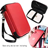 Carrying and Storage Case for HP Sprocket Plus Instant Photo Printer, Mobile Printer Plus, Instant Photo Printer, Inner Pocket for printing paper, cable and other accessories (Polyester Red)