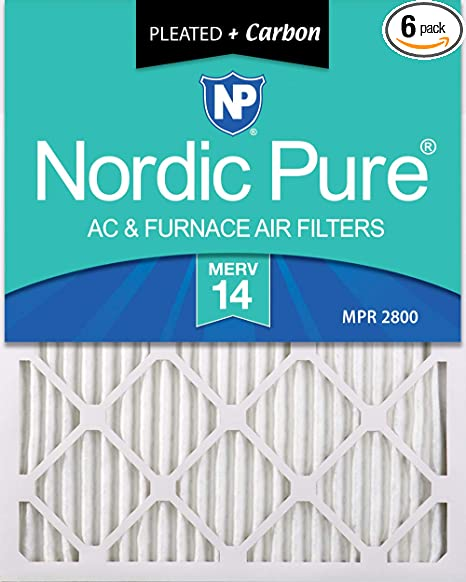 Filtration Nordic Pure 17x22x1 MERV 13 Pleated AC Furnace Air ...