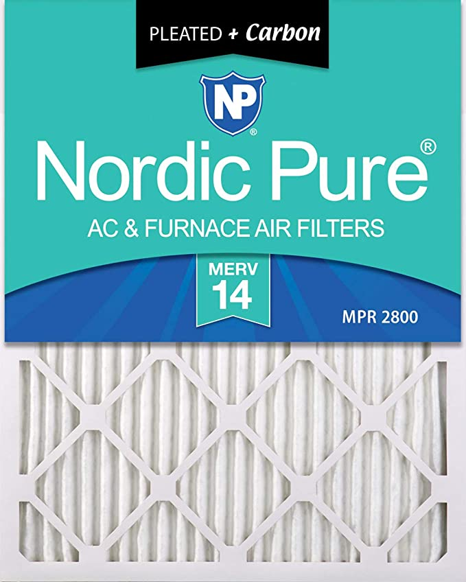 Nordic Pure 12x20x1 MERV 12 Pleated AC Furnace Air Filters 2 Pack 2 Piece
