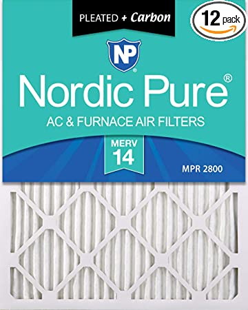 Nordic Pure 15x20x1 MERV 7 Plus Carbon AC Furnace Air Filters Qty 6