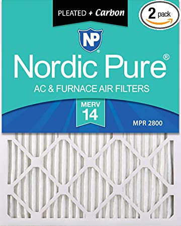 3 Pack 3 Piece Nordic Pure 12x12x1 Pure Green Eco-Friendly AC Furnace Air Filters