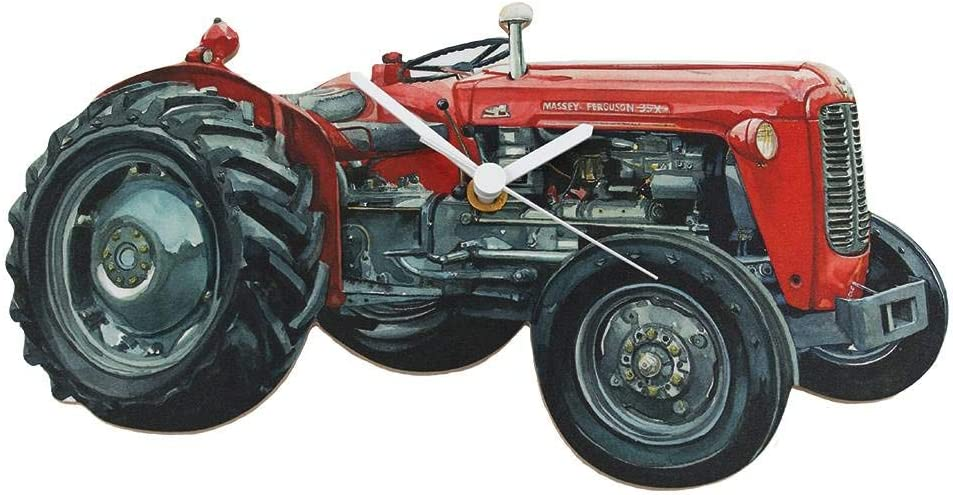 Tractor Mini Clock Hand cut w// choice of insert