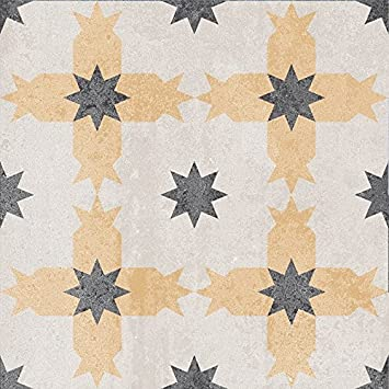 Bodenfliesen Zement Retrooptik Dekor 16 18 6x18 6x0 8cm 1 Krt 1