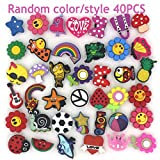 Trasfit 40 Pieces Shoes Charms for Crocs & Jibbitz Shoes, Wristband Bracelet Party Supplies, Fun and Exciting Decorations