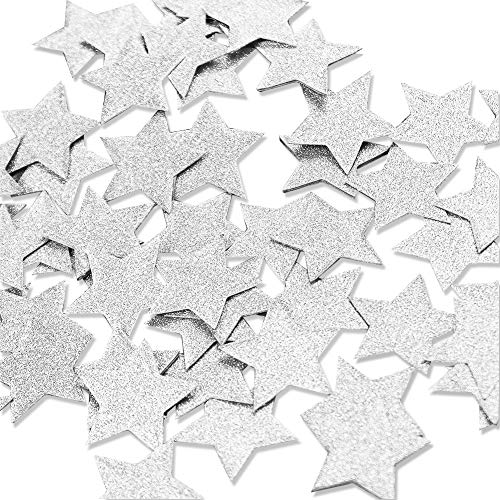 - Aonor 2 Packs Glitter Star Confetti for Table Decor, Baby Shower, Birthday Party Decorations, Silver, 1.2