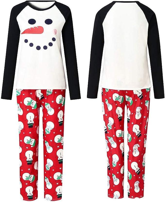 Fossen MuRope Pijamas Familiares Iguales, Pijamas de Navidad Familia Conjunto, Pijama Hombre Divertido Mujer Niño Bebe Baratos Ropa de Dormir Invierno