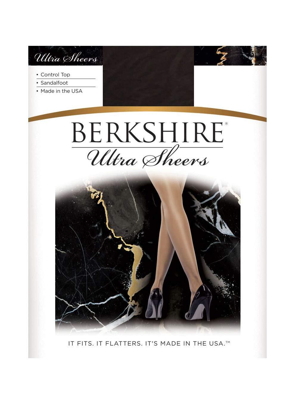 3b8d73414f Berkshire Women's Ultra Sheer Control Top Pantyhose 4415, Off Black, ...