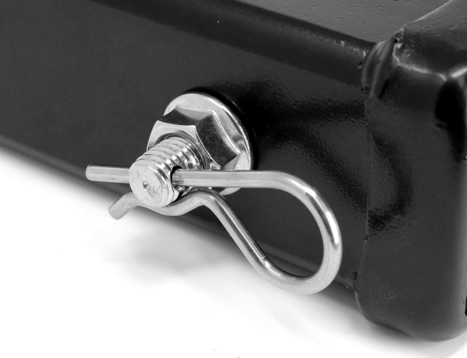 Will Fit 2 receivers LFPartS 100/% Stainless Steel Trailer Hitch Pin Keeper Grip Clip Kit