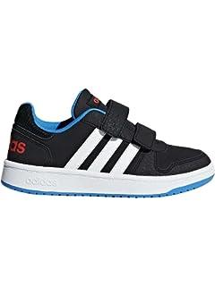 adidas Unisex-Kinder VL Court 2.0 K Fitnessschuhe, Weiß (Ftwbla/Negbas/Ftwbla 000), 35.5 EU