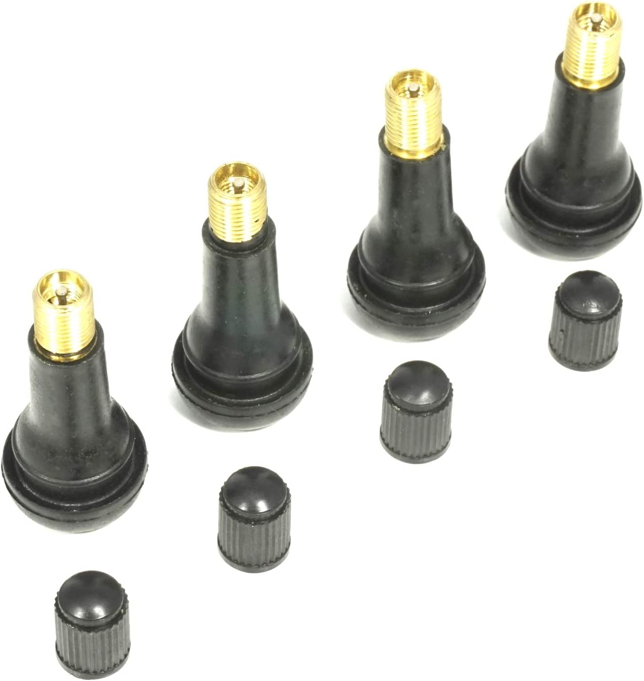 4 válvulas de goma Snap-In TR 413 para neumáticos, 43 mm