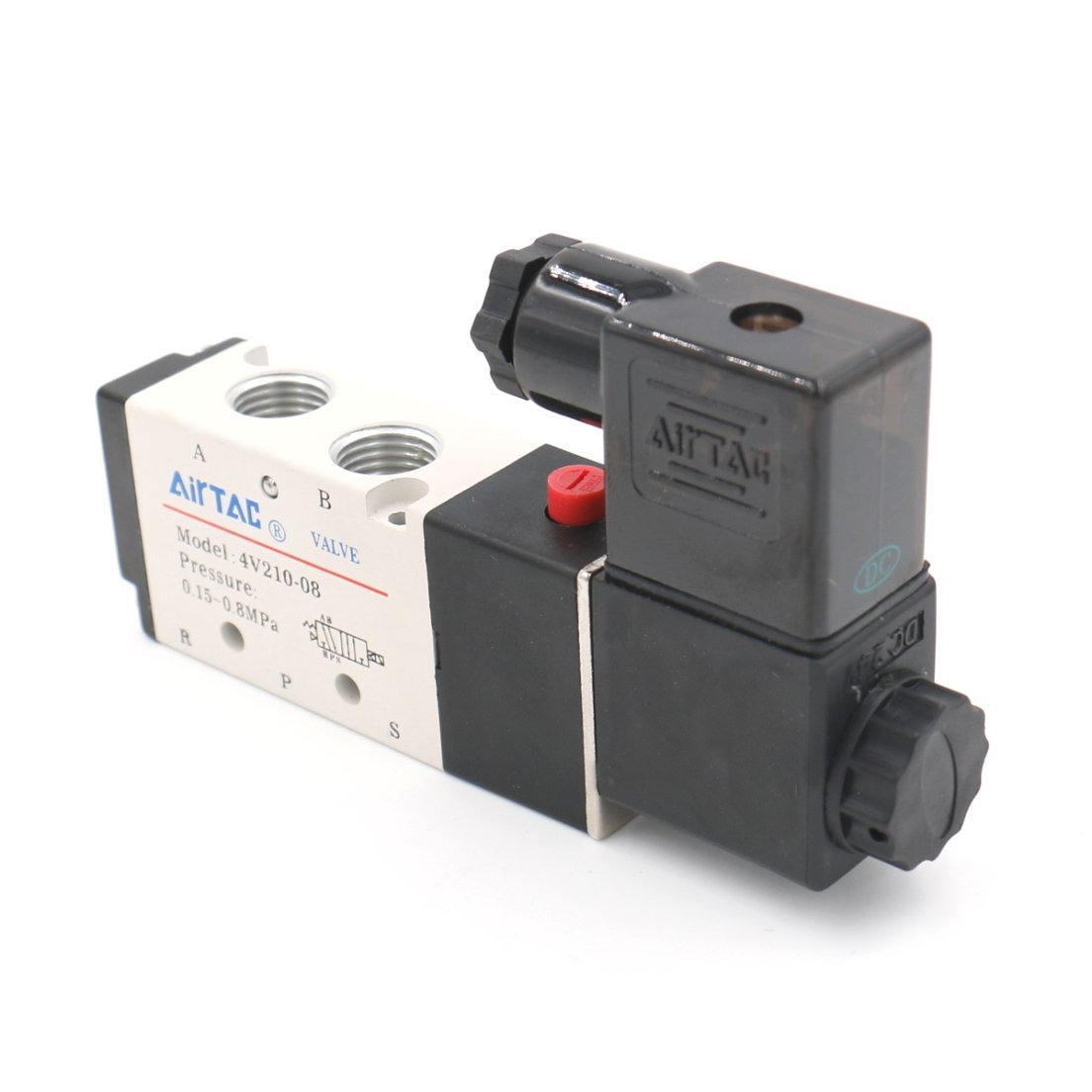 Baomain Electric Solenoid Valve 4V210-08 AC110V 2 Position 5 Way Inlet 1/4'' by Baomain