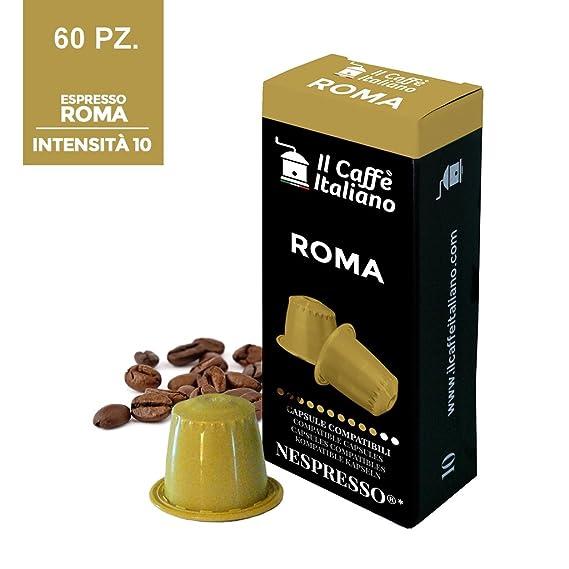 60 Cápsulas de Café compatibles Nespresso - Mezcla Roma - Il Caffè italiano - FRHOME