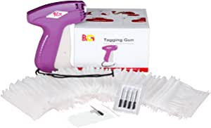 PAG XMS S13 Price Tag Standard Attacher Tagging Gun for Clothing with 5 Needles and 2000 Barbs Fasteners, Purple