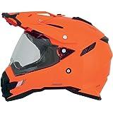 AFX FX-41DS Solid Helmet , Gender: Mens/Unisex, Helmet Type: Offroad Helmets, Helmet Category: Offroad, Distinct Name: Safety Orange, Primary Color: Orange, Size: Md 0110-3768