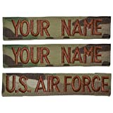 #9: Custom 3 Piece USAF OCP/Scorpion Name Tape with Hook Fastener