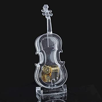 Caja de música de Forma de violín de Cuerda mecánica Asdomo sin luz: Amazon.es: Electrónica