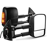 SAN HIMA VATM024A Pair Towing Extendable Side Mirrors for Isuzu MU-X 2012-ON BLACK NEW