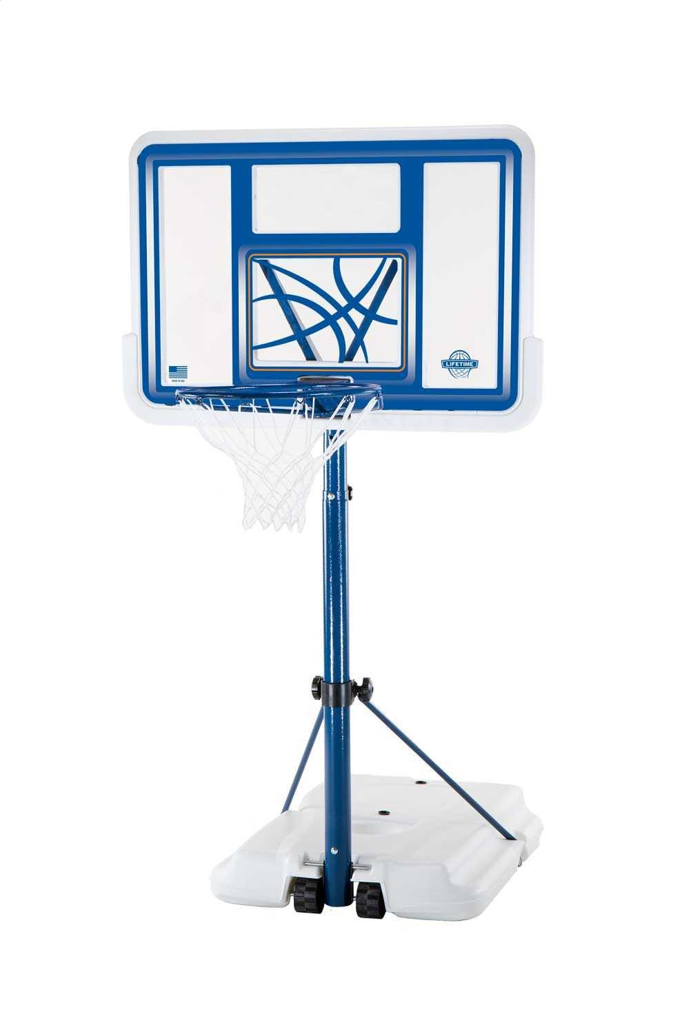 Amazon.com : Lifetime 1306 Pool Side Height Adjustable Portable Basketball  System, 44 Inch Backboard : Lifetime Poolside Basketball : Sports U0026 Outdoors