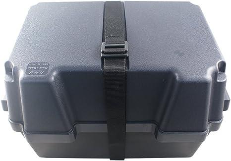 Nuova Rade La Caja de la batería de 100 Ah Cuadro Negro, Resistente a los ácidos y irrompible plástico: Amazon.es: Deportes y aire libre