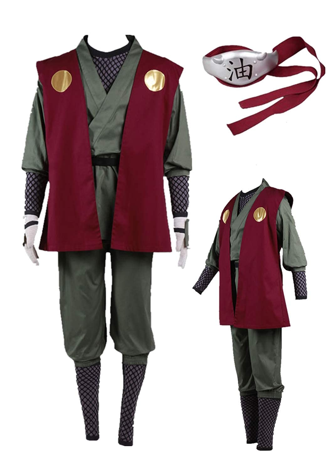 US Size Anime Jiraiya Cosplay Costume Halloween Full Set of Clothing Accessories