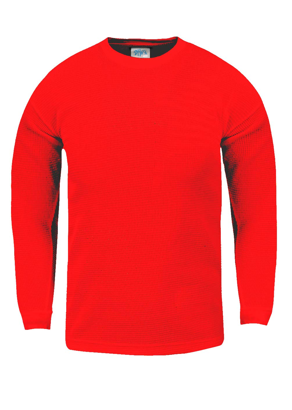 Shaka Wear KTC10_S Thermal Long Sleeve Crewneck Waffle Shirt Red S by Shaka Wear