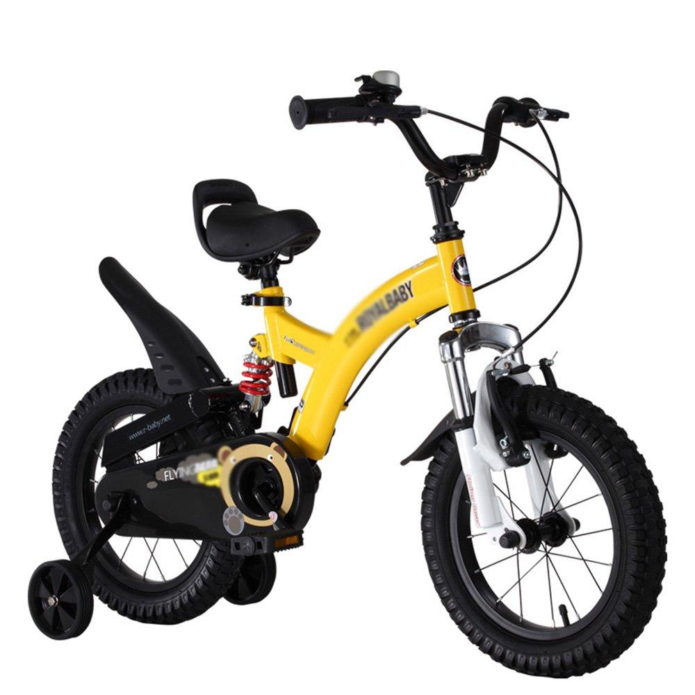LVZAIXI ボーイチャイルドバイクショックアブソーバーベビーカーショックバイク ( 色 : イエロー いえろ゜ , サイズ さいず : 12Inch ) B07BVZ2X79 12Inch|イエロー いえろ゜ イエロー いえろ゜ 12Inch