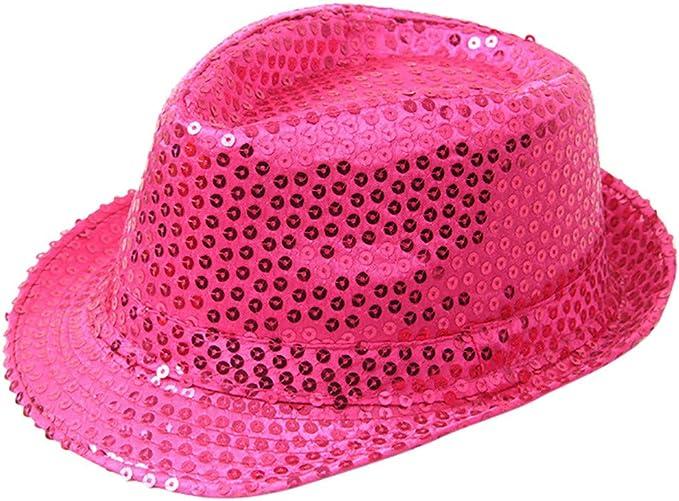 Cappello con Paillettes Cappello da Ballo con Paillettes Cappello da Donna By WUDUBE 2019 Nuovo Cappello da Donna con Paillettes