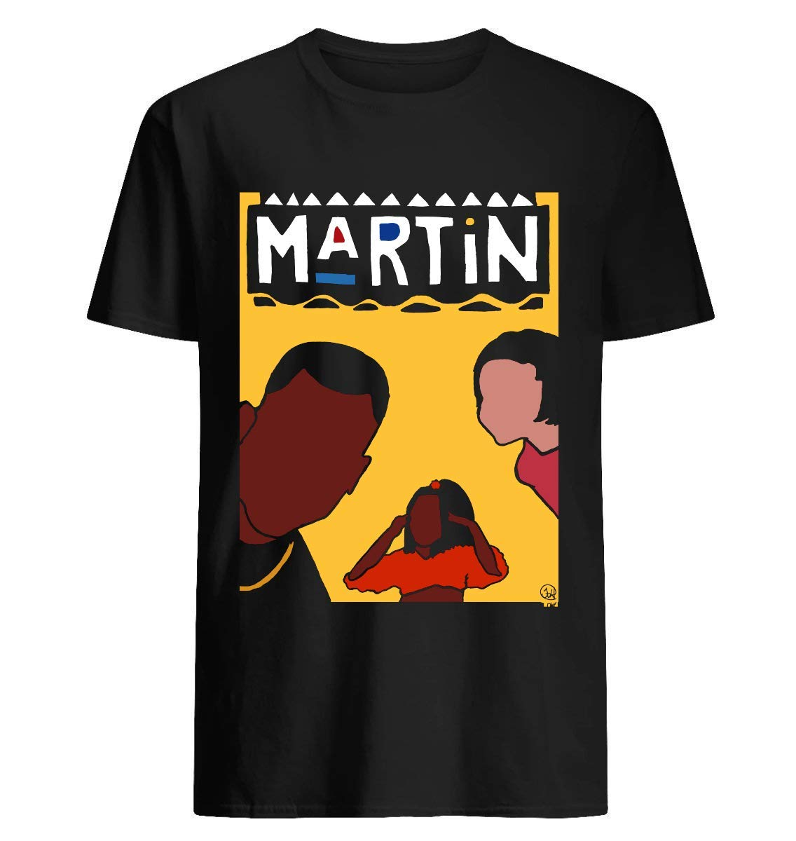 Martin - Yellow - Short Sleeve T Shirt, For Unisex