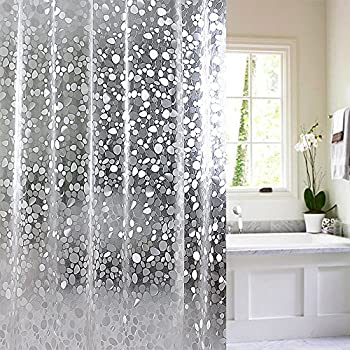 Amazon.com: 15 Gauge Nontoxic EVA Shower Curtain Anti-Bacterial ...