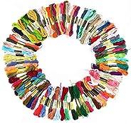 Conjunto de linha de bordar de algodão, DMC Linha de bordar de linha de bordado Linhas de pulseira de amizade