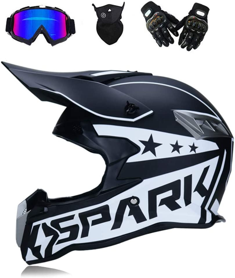 GNB Adulte Motocross Casque Off Road Moto Casque VTT Cross Dot Casques Moto Crossbike Enduro Sport avec Gants Masque de temp/ête et des Lunettes 6 Style