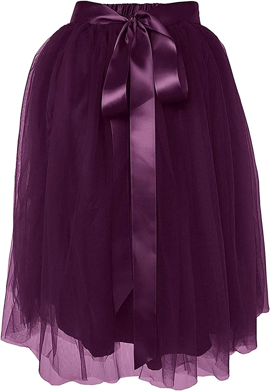 Dancina A Line Tulle Skirt Knee Length Tutu for Girls /& Women